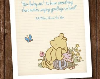Winnie the Pooh Quote Poster / Winnie the Pooh Decor / Winnie the Pooh Birthday