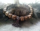 Elder Futhark Runes Mjolnir Necklace
