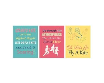 8 x 10 Lets Go Fly A Kite Set Digital File