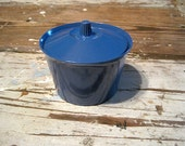 Navy Blue Melmac Sugar Bowl