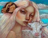 Amalthea Greek goddess goat nymph 8x10 fine art print