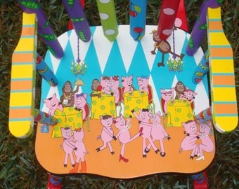 Kids' Rocking Chair Child's Rocker Personalized Rocking Chair for Kids Baby Girl Rocker Custom Painted Wooden Rocker