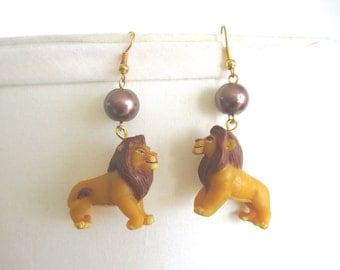 Lion King Earrings - Grown up SIMBA /MUFASA Earrings - 90's gear