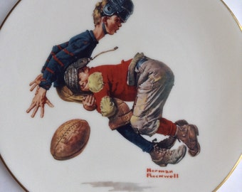 """Norman Rockwell's """"Saturday's Heroes"""" Memorial Plate (1978 Gorham Fine China)"""