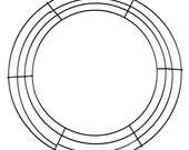 14 Inch Black Box Wire Wreath Form MD008102, Deco Mesh Supplies, Poly Mesh Supplies