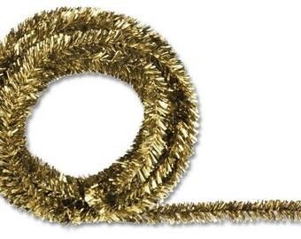 Gold Metallic Tinsel Roping, Mesh Supplies, Poly Mesh Supplies, Mesh Ribbon (25 FEET)