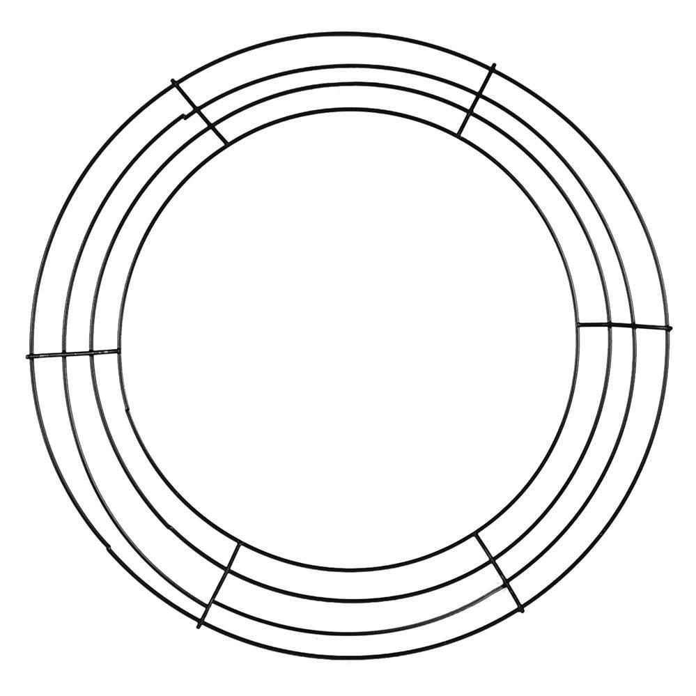 14 inch black box wire wreath form md008102 deco by wreathsbyrobin