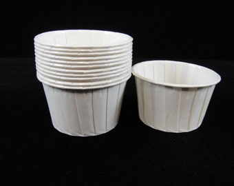 Plain White Baking Cups, Candy Cups, Dip Cups, Nut Cups, Weddings, Party Cups, Candy Buffets, Wedding Cupcakes, Favor Cups, QTY 12