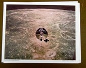 Official NASA released color photo of the command module and the back side of the moon. Nasa no. 8