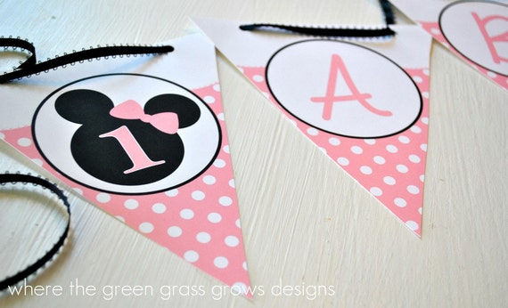 Minnie Mouse Banner Bunting