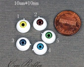 20~40pcs 10mm Mixed Round Eyeball Eye Spooky Resin Cabochons Diy Deco C35