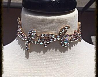 Swarovski Crystal AB Vine Choker