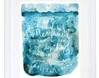 Anais Nin I must Be a Mermaid Children Art Print