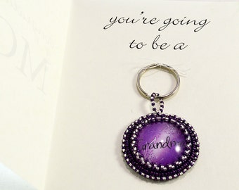 Pregnancy Announcement Gift Card Keychain for Mom Going to be a Grandma Mothers Day Present