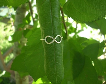 Silver Infinity Ring. Sterling Silver Infinity Ring. Infinity Jewelry. Infinity Band Ring.