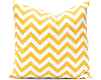 Decorative Pillow Covers, Yellow Pillow Shams, 24 x 24, Yellow Pillow Cover, Euro sham, Yellow Cushion , Throw Pillow Cover, Chevron Pillow