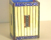 Stained Glass Mosaic Table Top Coffee Table End Table Shelf Decor Vase Sun Catcher Pencil Holder