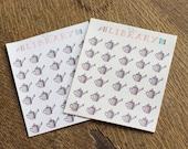 30 Mini Watering Can Life Planner Stickers, Perfect for Erin Condren, Kikki K, Plum Paper, Filofax