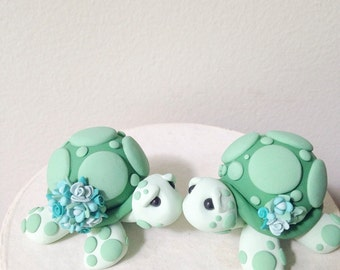 Love Turtles wedding cake topper handmade