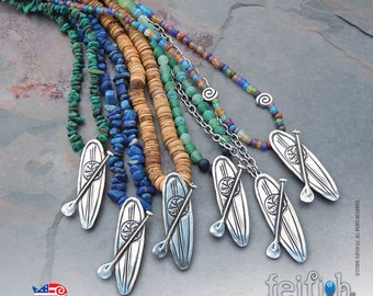 SUP, Standup Paddleboard Necklaces
