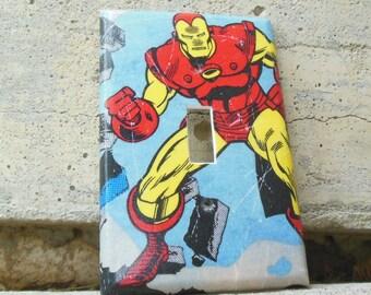 Iron Man Avengers Light Switch Plate Cover, Kids Avenger Room, Kid's Room, Avenger Bedroom