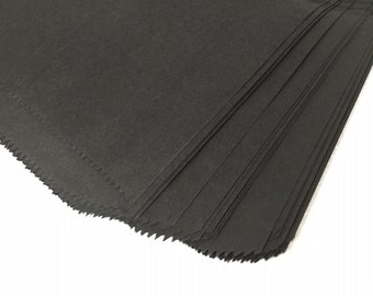 "12""x15"" Black Paper Merchandise Bags - 25PK"