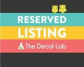 RESERVED LISTING for olsonclan
