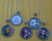 5 x 46cm Silver Tone Monster High Inspired Necklaces - Great Party Favours
