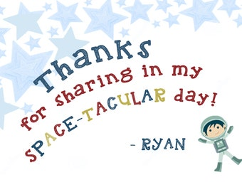 DIY PRINT spaceship thank you notes, diy thank you cards, out of this world note cards, space thank you notes, space themed birthday