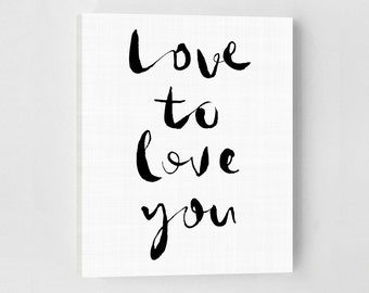 Love Poster, Love Print, Modern Bedroom, Bedroom Art, Modern Bedroom Decor, Love Art Print, Love Typography Print, Bedroom Love Art Print