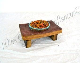 "DOVELA - ""Ikati"" - Wine Barrel Cat Food Dish -100% recycled"