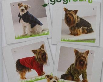 Simplicity 2695 XS S M Puppy Dog Clothes Coat Shirt XSmall Small Medium Uncut Sew Sewing Pattern