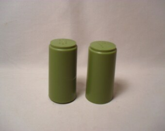 Vintage Set of Plastic Salt and Pepper Shakers
