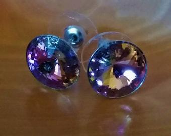 Rosey Pink Swarovski Crystal Earrings
