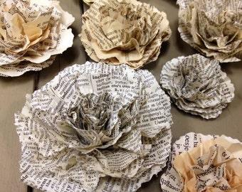 80 Handmade Paper Flowers
