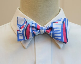Lilly Bow Tie in Red Right Return (self-tie)