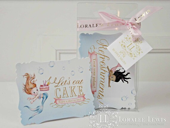 Mermaid Buffet Signs by Loralee Lewis