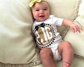 Monogram Glitter bodysuit gold glitter baby shirt baby girl glitter tee glitter shirt Pink Glitter Princess Trendy Hipster Take Home Outfit