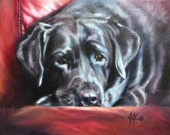 CUSTOM Pet Portrait Oil on Canvas