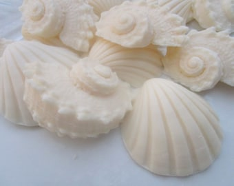 40 seashell soap favors - beach wedding favors - ocean bridal shower favors - birthday party favors - baby shower favors - seashell favors