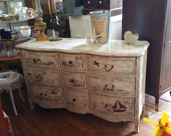 Rustic Bohemian Vanity Table Salon Station Boho Repurpose