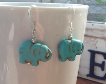 Wise elephant energy healing calming earrings for meditation or yoga or reiki