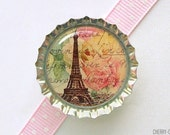 Eiffel Tower Bottle Cap Magnet, paris theme party favors, paris magnets, paris decor, eiffel tower decor, french decor, paris gift, parisian