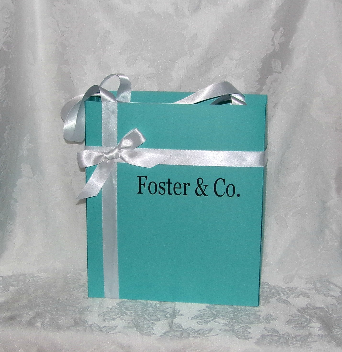 Jumbo Wedding Gift Bags : JUMBO TALL Personalized Blue Gift Bags Favor by apreciousmemory