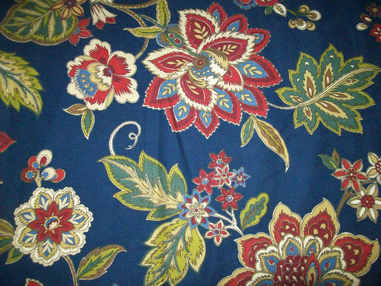 Floral upholstery fabric by the yard for home decor for Home decorating fabric by the yard