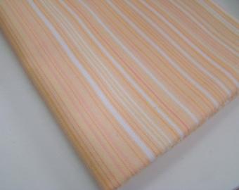 Panache by Sanae for Moda Fabrics, Peach Stripe, OOP HTF, FQ