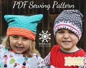 Preemie to Adult Reversible Slouchy Beanie Sewing Pattern, Ten Sizes Included, Slouchy Beanie Digital PDF Hat Sewing Pattern
