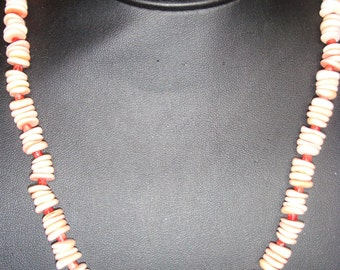 Shell, Apple Coral & Copper Necklace