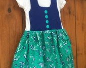 READY TO SHIP Hues of Blue simple baby dirndl 3 Months