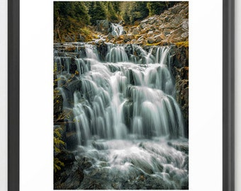 Nature Photography, Waterfall, Fine Art Photography, Green, Nature Photography, fPOE (6 sizes)
